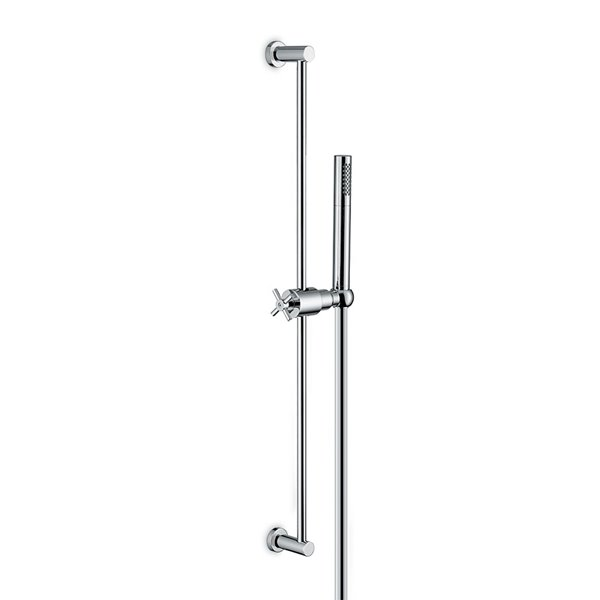 Complete shower set, with brass hand shower LL. 150 cm flexible, without wall union