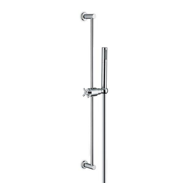 Asta saliscendi completa di doccia in ottone e flessibile LL. 150 cm, senza presa acqua.