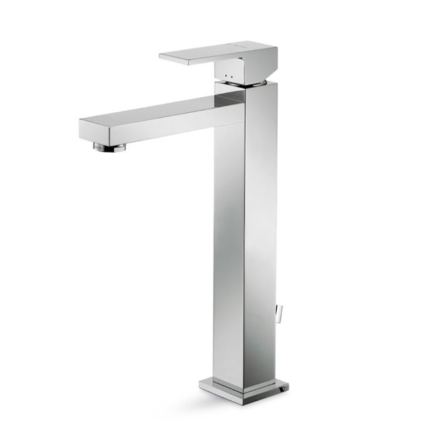 "Single-lever mixer, high version for above counter basin, with 1""1/4 pop-up waste set"