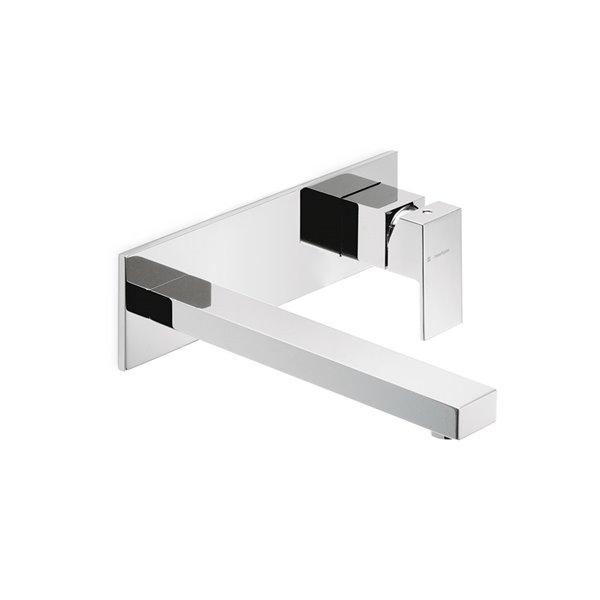Parte esterna gruppo miscelatore monocomando a parete per lavabo senza scarico.