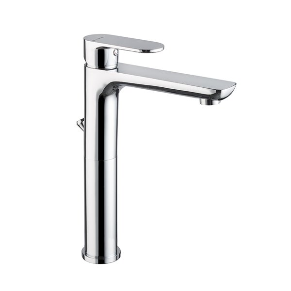 """Single-lever mixer, high version for above counter basin with 1""""1/4 pop up waste set."""