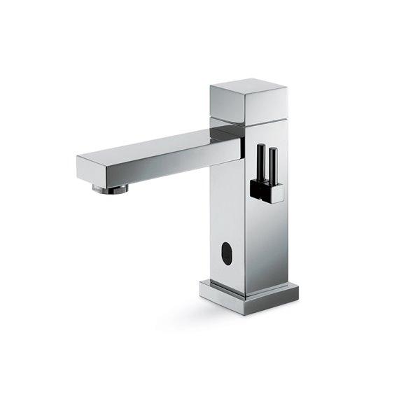 Rubinetto erogatore per lavabo a miscelazione regolabile manualmente tramite rubinetti d'arresto inclusi