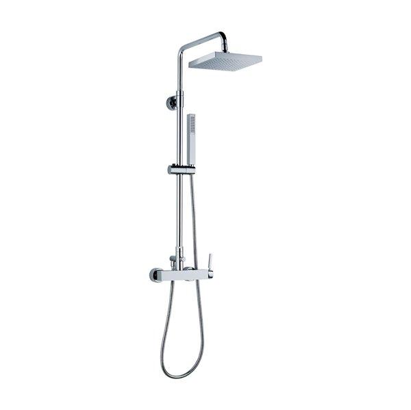 Brass round wall head shower with raining jet