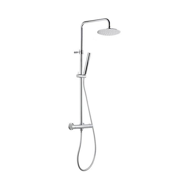 Colonna doccia con miscelatore termostatico esterno
