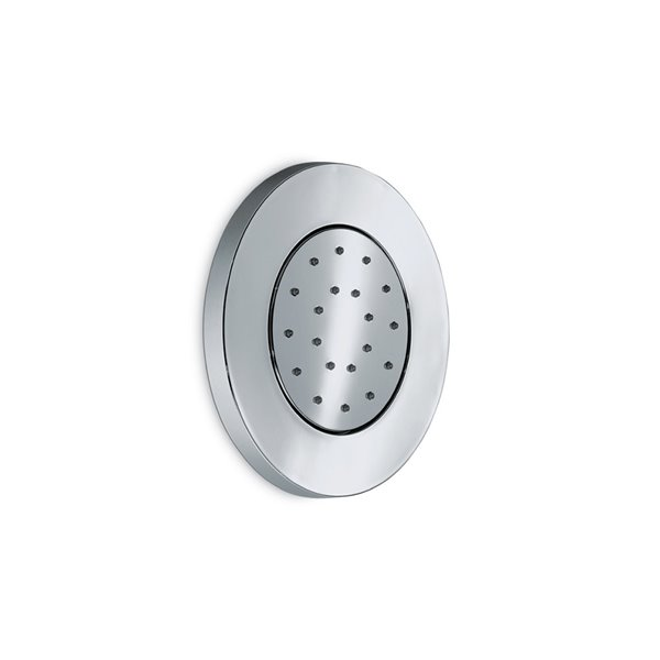 ABS round adjustable single-jet wall-mounted shower-head