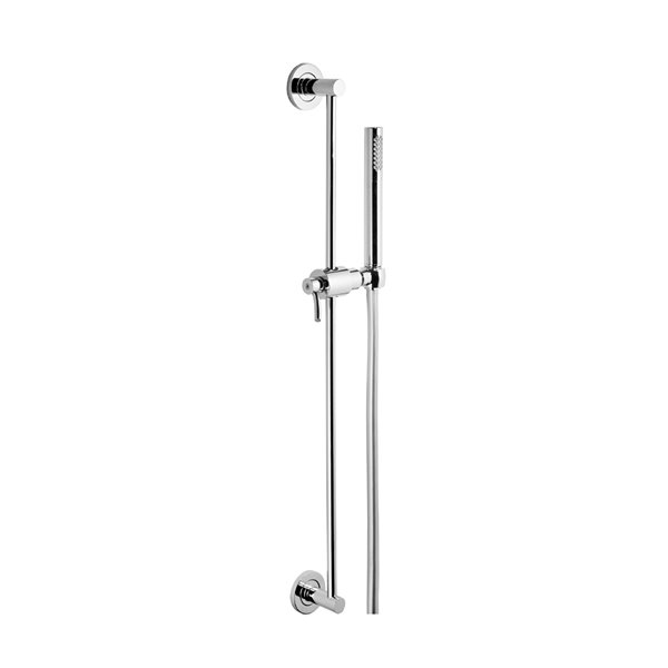 Complete brass shower set with hand shower, LL 150 cm flexible, without wall union.