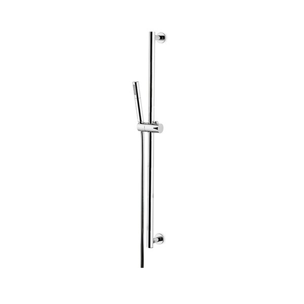 Complete shower set, with brass hand shower, LL 150 cm PVC flexible, without wall union.