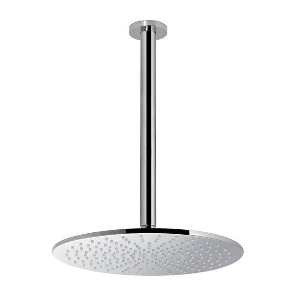 Brass round ceiling head shower with raining jet