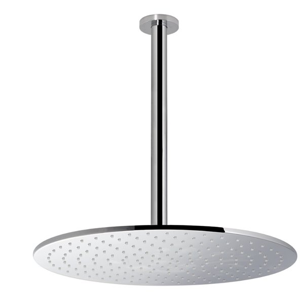 Brass round ceiling head shower with raining jet