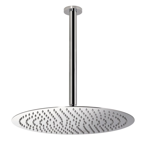 Stainless steel round ceiling head shower with raining jet