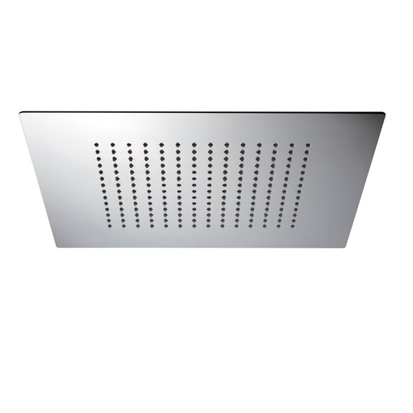 Stainless steel squared concealed head shower