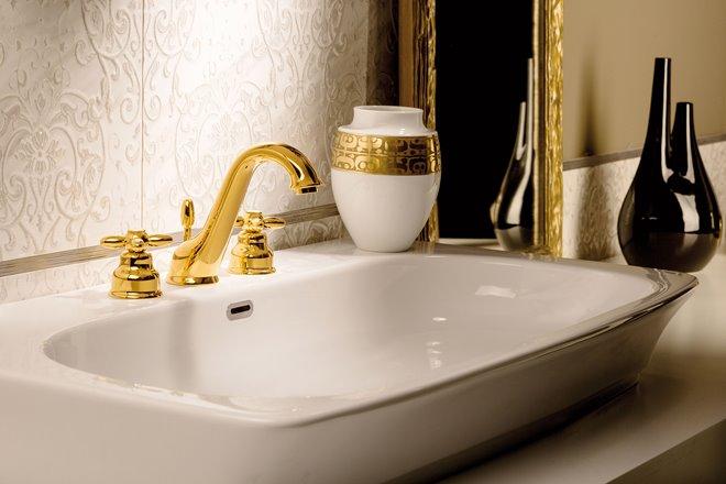 Rubinetto bagno Antea oro