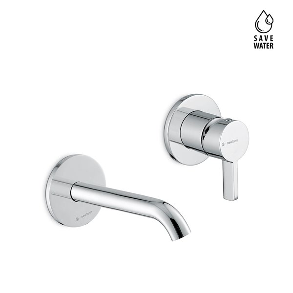 Single lever wall mixer group, without pop -up waste set.