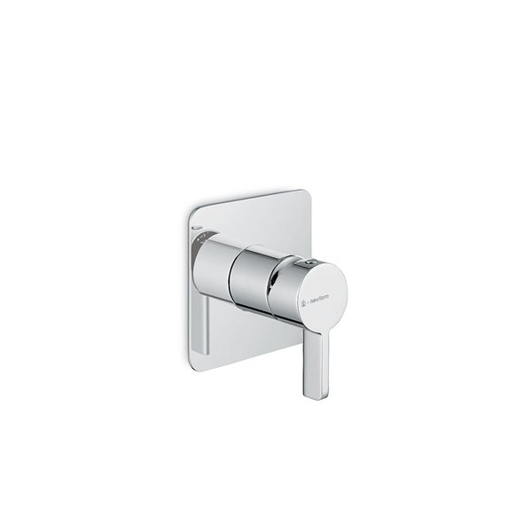 """One way out single lever concealed mixer, 1/2"""" connections."""