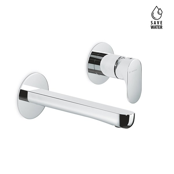 External part basin group consisting of: single-lever wall mixer without pop-up waste set.