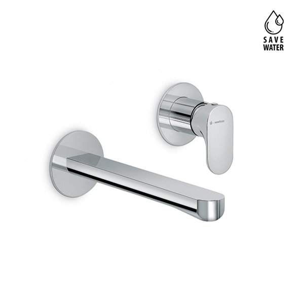 Basin group consisting of: single-lever wall mixer without pop-up waste set.