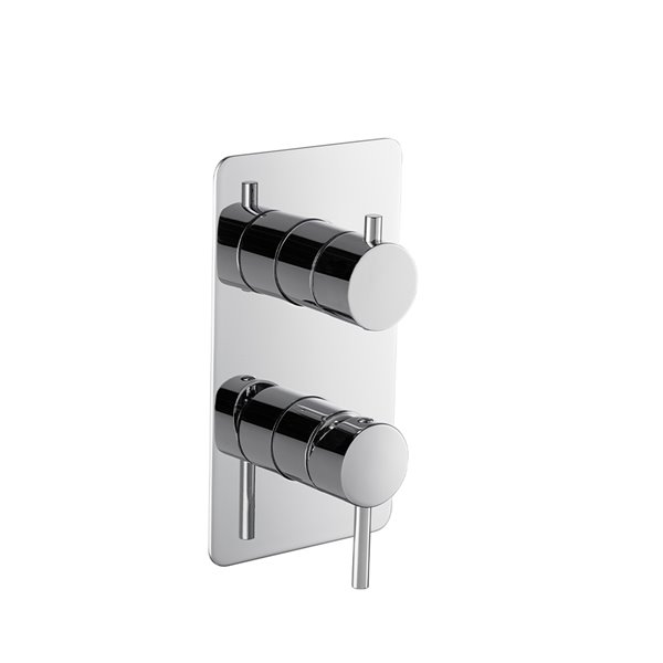 Single lever concealed mixer with two ways out mechanical diverter