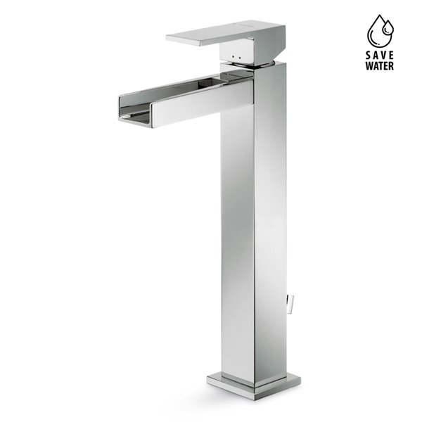 """Single-lever mixer, high version for above counter basin, with 1""""1/4 pop-up waste set"""