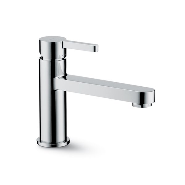 Single-lever basin mixer without pop-up waste set
