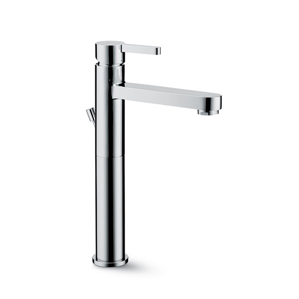 """Single-lever mixer, high version for above counter basin with 1""""1/4 pop-up waste set."""