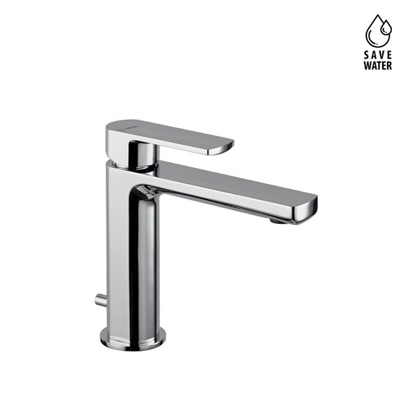 """Single lever basin mixer with 1""""1/4 pop-up waste set."""