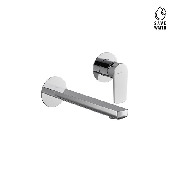Single lever wall mixer group, without pop-up waste set