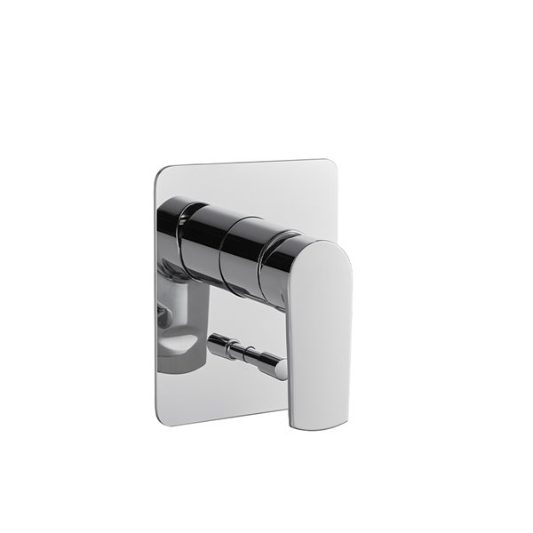 Single lever concealed mixer with two ways out automatic diverter