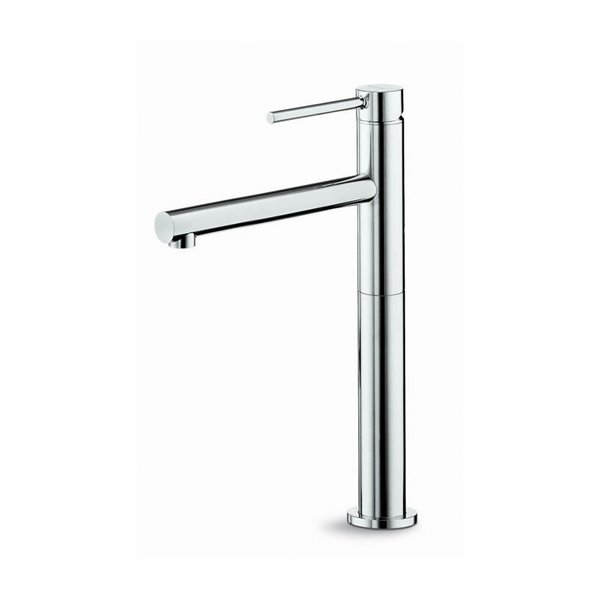 Single lever mixer, high version for above counter basin, without pop up waste set.