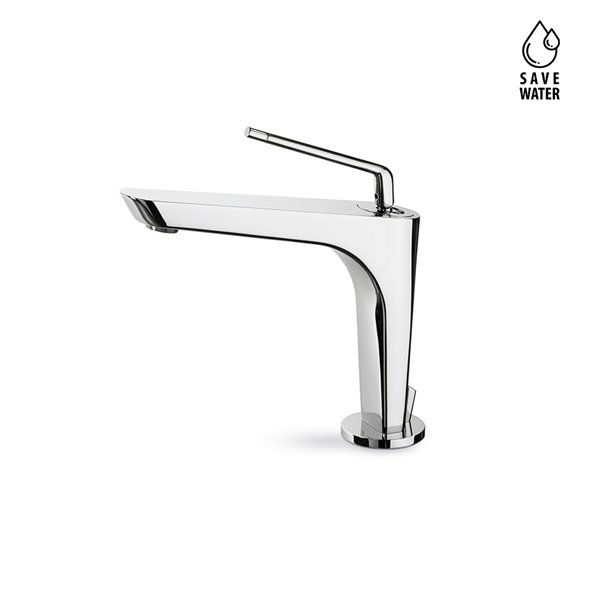 """Single-lever basin mixer with 1""""1/4 pop-up waste set."""