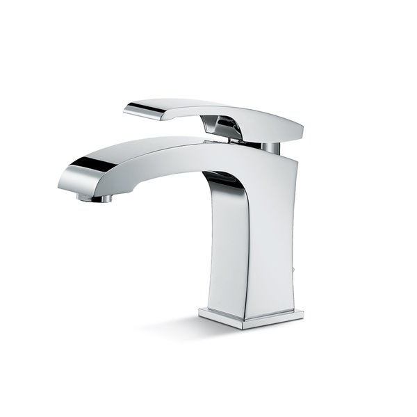 """Single-lever basin mixer with 1""""1/4 pop up waste set."""