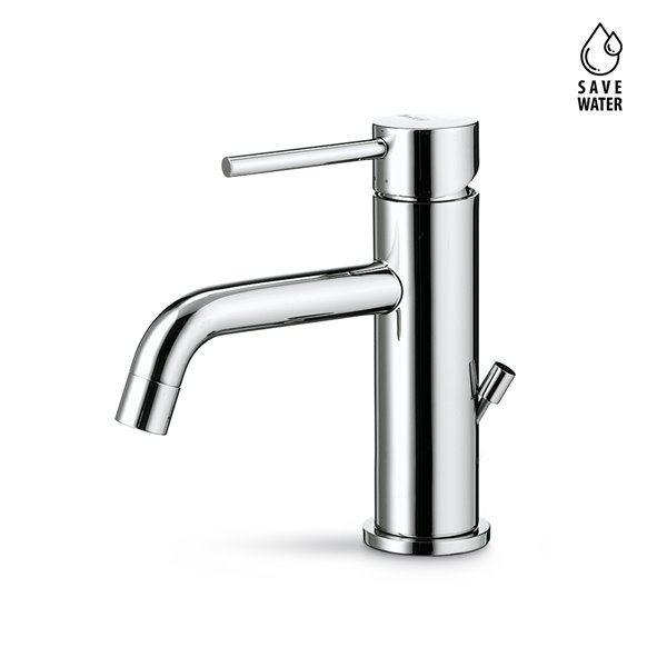 """Single-lever basin mixer with 1""""1/4 pop up waste set"""