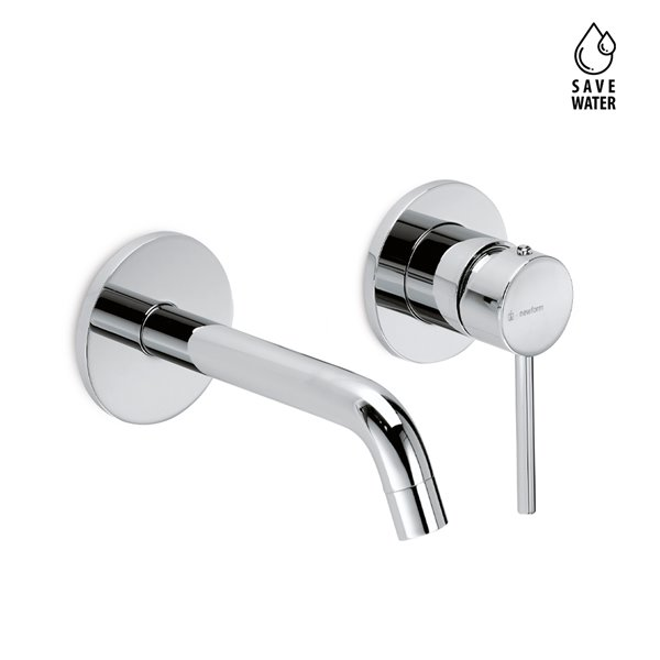 External part basin group consisting of: single-lever wall mixer, without pop-up waste set.