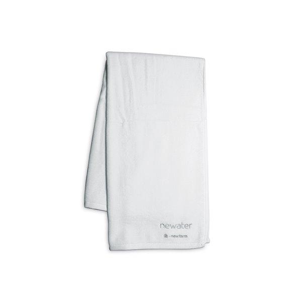 Asciugamano in spugna cm 100x150, colore bianco