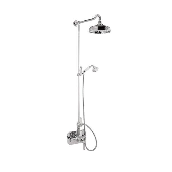 Colonna doccia con miscelatore termostatico coassiale esterno
