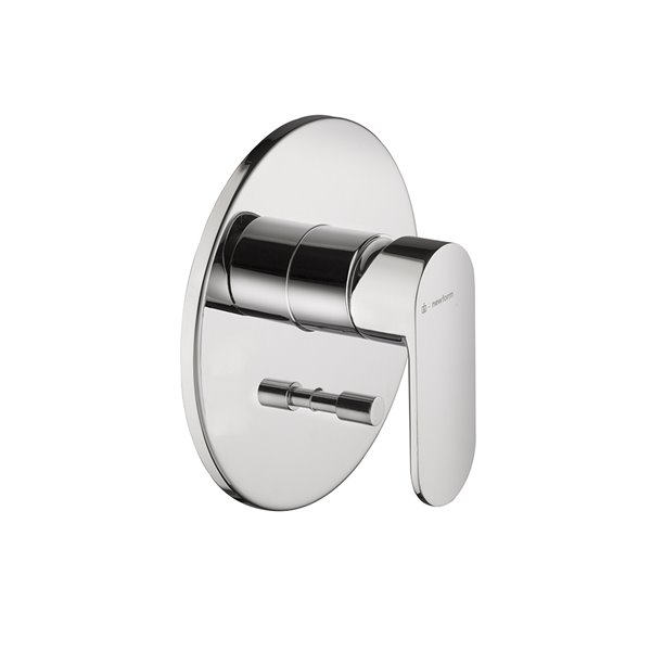 """Single lever concealed bath/shower mixer with automatic diverter, 1/2"""" connections 35 mm ceramic discs cartridge."""