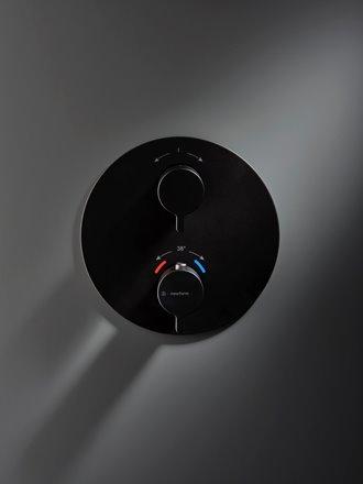 COmando doccia in nero opaco